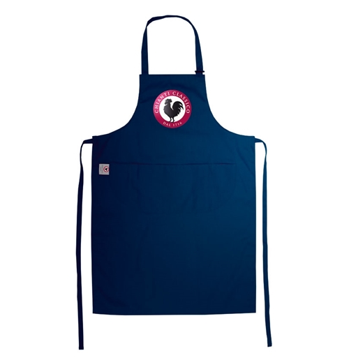 Apron Brand Name Blue
