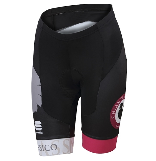 Black and Neon Pink Cycle Ladies Shorts