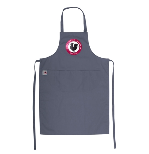 Apron Brand Name Grey