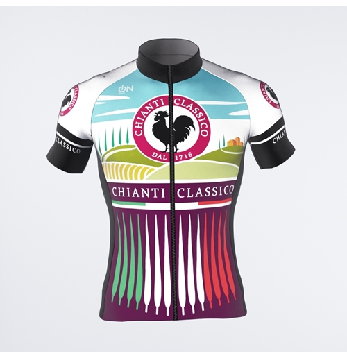Garnet red Chianti Classico-Cypress Trees short-sleeved jersey