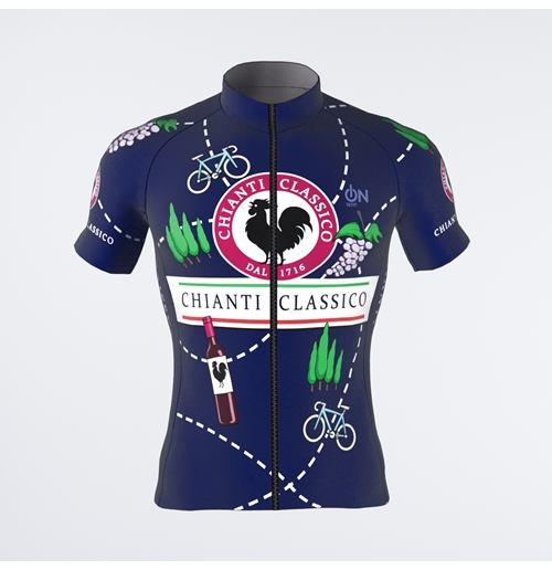 Chianti Classico Grapes and Bike short-sleeved jersey