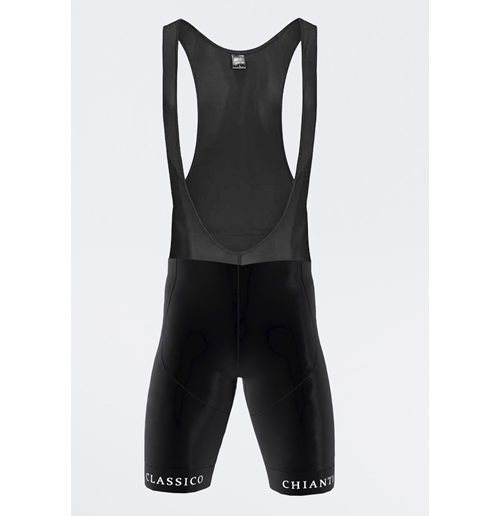 "Black Bibshort sport with ""00 Shock"" gel"